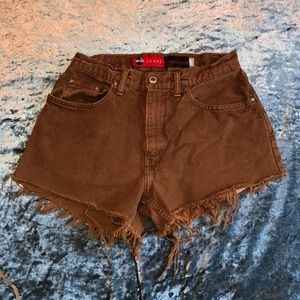 Brown Levi Cut Off Shorts